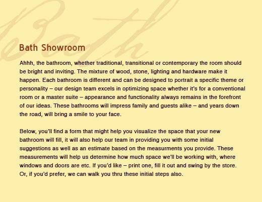 Tinley Park Kitchen and Bath Shoppe - 708.429.6601 - Bath Showroom
